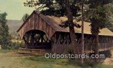 cou100551 - Sunday River, Newry, ME USA Covered Bridge Postcard Post Card Old Vintage Antique