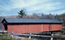 cou100553 - Ware River, MA USA Covered Bridge Postcard Post Card Old Vintage Antique