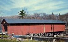 cou100554 - Ware River, MA USA Covered Bridge Postcard Post Card Old Vintage Antique