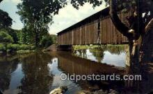 cou100557 - Fallasburg, Grand Rapids, MI USA Covered Bridge Postcard Post Card Old Vintage Antique