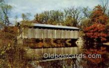 cou100558 - Fallasburg, Grand Rapids, MI USA Covered Bridge Postcard Post Card Old Vintage Antique