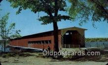 cou100559 - Centerville, MI USA Covered Bridge Postcard Post Card Old Vintage Antique