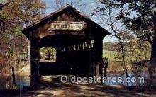 cou100561 - Whites, Ionia Co, USA Covered Bridge Postcard Post Card Old Vintage Antique