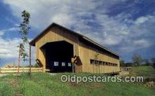 cou100565 - Caine Road, Ashtabula Co, USA Covered Bridge Postcard Post Card Old Vintage Antique