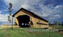 cou100567 - Caine Road, Ashtabula Co, USA Covered Bridge Postcard Post Card Old Vintage Antique