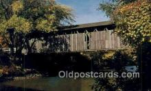 cou100572 - Ada, Ada, MI USA Covered Bridge Postcard Post Card Old Vintage Antique