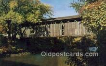 cou100573 - Ada, Ada, MI USA Covered Bridge Postcard Post Card Old Vintage Antique