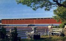 cou100574 - Centreville, MI USA Covered Bridge Postcard Post Card Old Vintage Antique