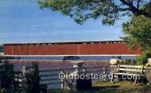 cou100575 - Centreville, MI USA Covered Bridge Postcard Post Card Old Vintage Antique