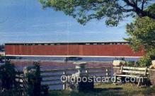 cou100576 - Centreville, MI USA Covered Bridge Postcard Post Card Old Vintage Antique