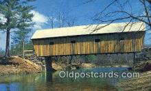 cou100579 - Lovejoy, South Andover, ME USA Covered Bridge Postcard Post Card Old Vintage Antique