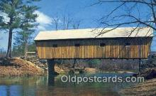 cou100581 - Lovejoy, South Andover, ME USA Covered Bridge Postcard Post Card Old Vintage Antique