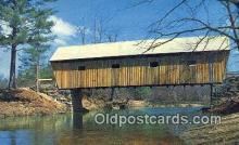 cou100582 - Lovejoy, South Andover, ME USA Covered Bridge Postcard Post Card Old Vintage Antique