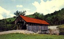 cou100587 - Bennett, Lincoln Plantation, ME USA Covered Bridge Postcard Post Card Old Vintage Antique