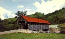 cou100588 - Bennett, Lincoln Plantation, ME USA Covered Bridge Postcard Post Card Old Vintage Antique