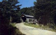 cou100590 - Babb's, Gorham, ME USA Covered Bridge Postcard Post Card Old Vintage Antique