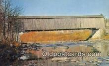 cou100591 - Lowes, Greenville, ME USA Covered Bridge Postcard Post Card Old Vintage Antique