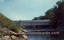 cou100593 - Morse, Bangor, ME USA Covered Bridge Postcard Post Card Old Vintage Antique