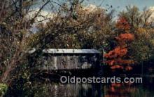 cou100596 - Fallasburg, Lowell, MI USA Covered Bridge Postcard Post Card Old Vintage Antique