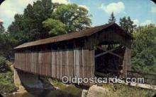 cou100598 - Ada, Ada, MI USA Covered Bridge Postcard Post Card Old Vintage Antique
