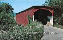 cou100722 - Covered Bridge Vintage Postcard