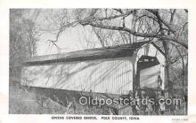cou100725 - Covered Bridge Vintage Postcard