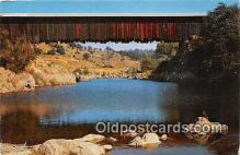 cou100726 - Covered Bridge Vintage Postcard