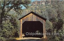 cou100727 - Covered Bridge Vintage Postcard