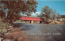 cou100729 - Covered Bridge Vintage Postcard