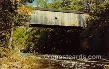 cou100730 - Covered Bridge Vintage Postcard