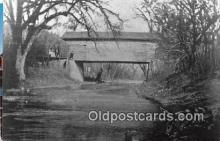 cou100731 - Covered Bridge Vintage Postcard