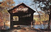 cou100732 - Covered Bridge Vintage Postcard