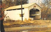 cou100734 - Covered Bridge Vintage Postcard