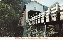 cou100735 - Covered Bridge Vintage Postcard