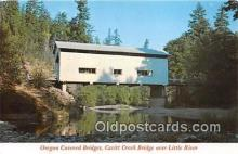 cou100736 - Covered Bridge Vintage Postcard