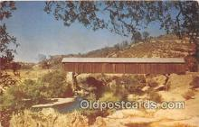 cou100741 - Covered Bridge Vintage Postcard