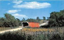 cou100745 - Covered Bridge Vintage Postcard