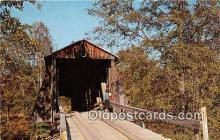 cou100749 - Covered Bridge Vintage Postcard