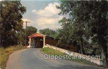 cou100750 - Covered Bridge Vintage Postcard