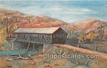 cou100752 - Covered Bridge Vintage Postcard