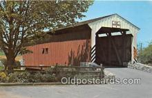 cou100753 - Covered Bridge Vintage Postcard
