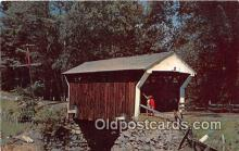 cou100754 - Covered Bridge Vintage Postcard