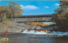 cou100755 - Covered Bridge Vintage Postcard