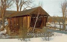 cou100756 - Covered Bridge Vintage Postcard