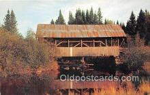 cou100757 - Covered Bridge Vintage Postcard