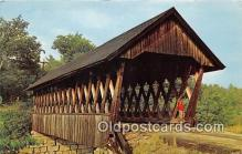 cou100758 - Covered Bridge Vintage Postcard
