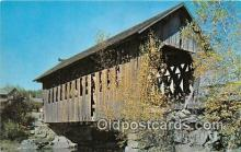 cou100760 - Covered Bridge Vintage Postcard