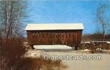 cou100761 - Covered Bridge Vintage Postcard