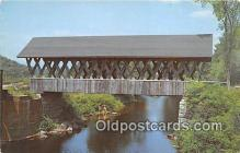 cou100762 - Covered Bridge Vintage Postcard
