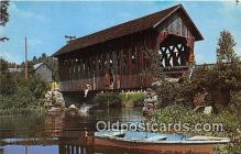 cou100763 - Covered Bridge Vintage Postcard